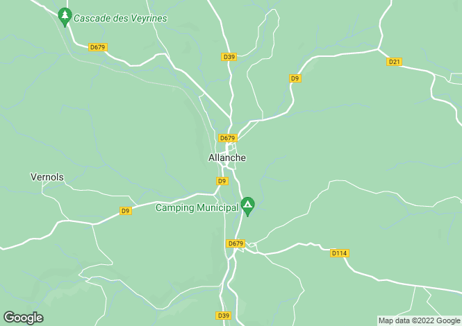 Map for Auvergne, Cantal, Allanche