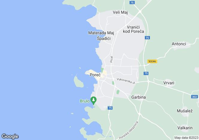 Map for Porec, Istria