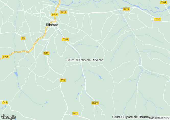 Map for Secteur: Siorac-de-Riberac, Dordogne