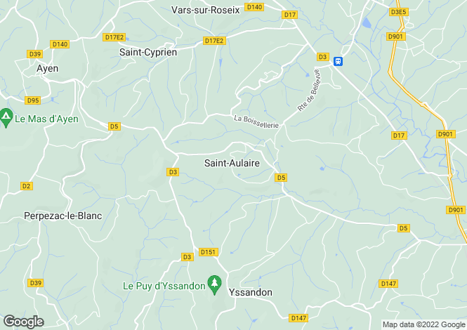 Map for st-aulaire, Corrèze, France