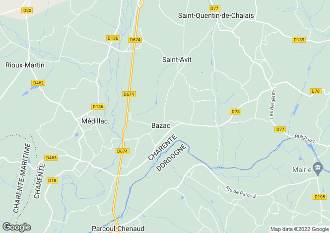 Map for st-avit, Charente, France
