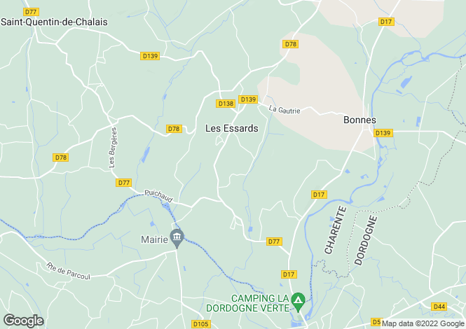 Map for les-essards, Charente, France