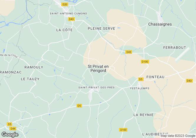 Map for Secteur: Saint-Aulaye, Dordogne