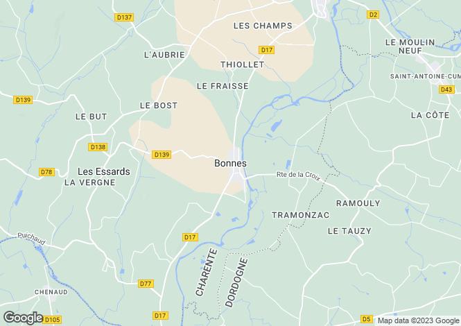 Map for Secteur: Bonnes, Charente