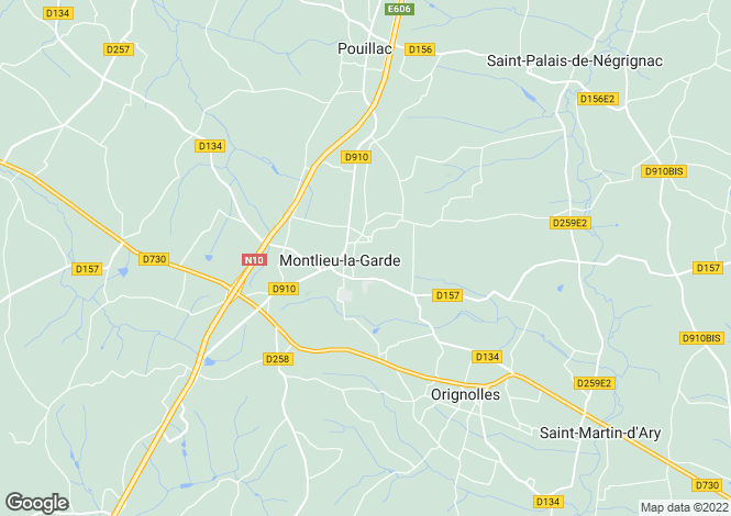 Map for montlieu-la-garde, Charente-Maritime, France