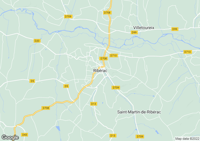 Map for Secteur: Riberac, Dordogne