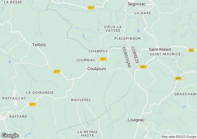 Map for near-hautefort., Dordogne, France