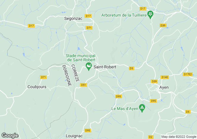 Map for nr-hautefort, Corrèze, France