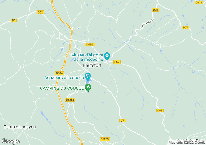 Map for hautefort, Dordogne, France
