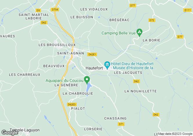 Map for Secteur: Hautefort, Dordogne