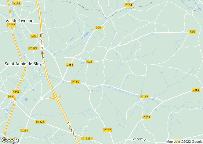 Map for marcillac, Gironde, France