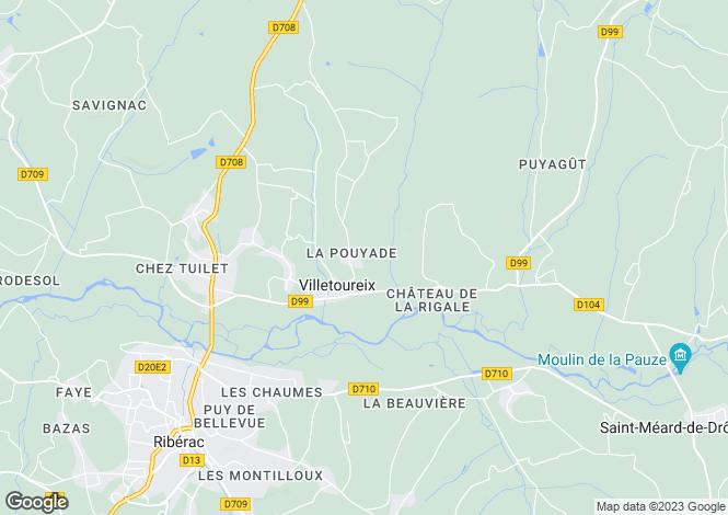 Map for villetoureix, Dordogne, France