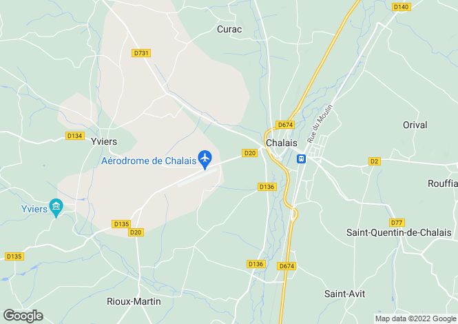 Map for Chalais, Charente, Poitou-Charentes