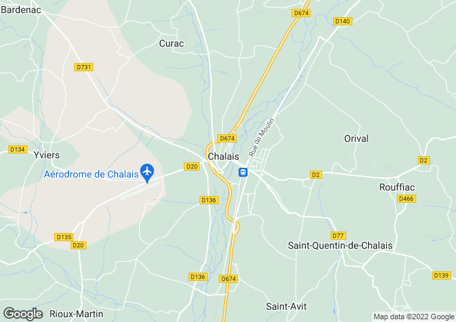 Map for Proche/Near Chalais, Charente