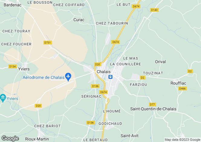 Map for Secteur: Chalais, Charente