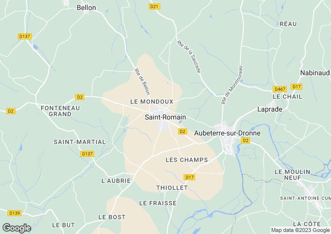 Map for Secteur: St Romain, Charente