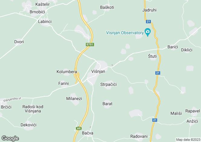 Map for Villa Olivia, Visnjan, Croatia