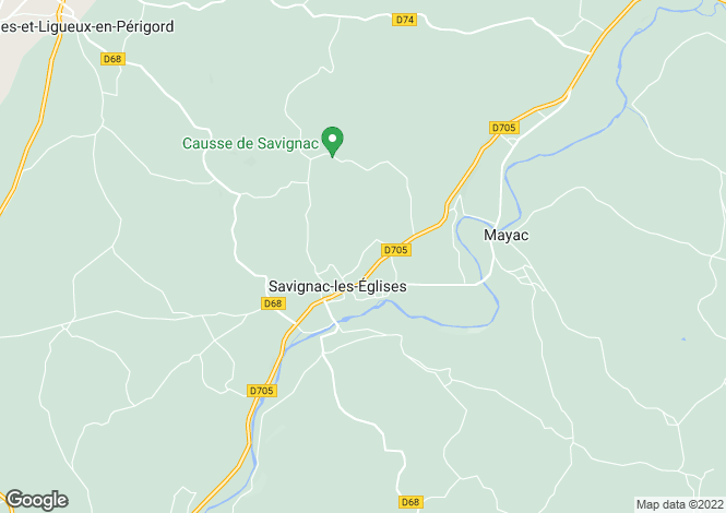 Map for savignac-les-eglises, Dordogne, France