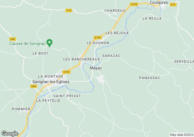 Map for mayac, Dordogne, France