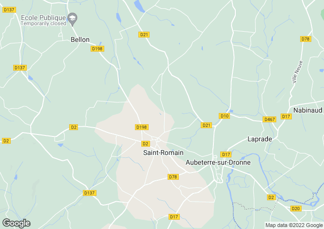 Map for Poitou-Charentes, Charente, St-Romain