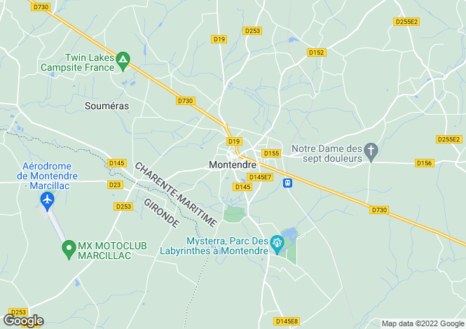 Map for Proche / Near Montendre, Charente Maritime