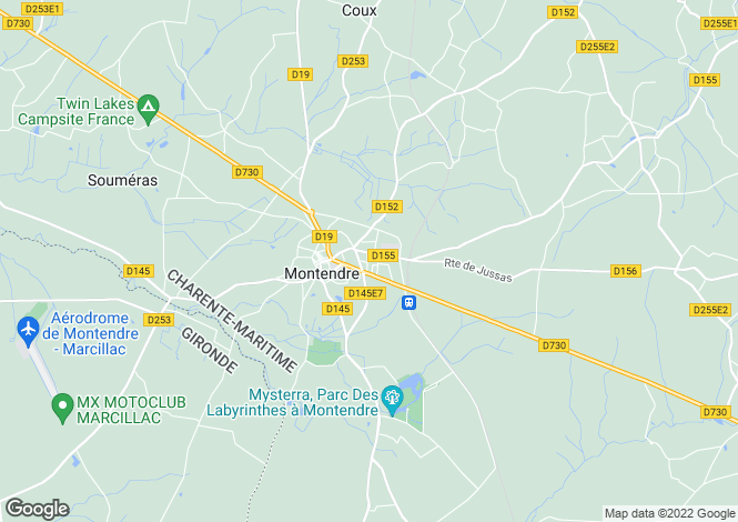 Map for montendre, Charente-Maritime, France