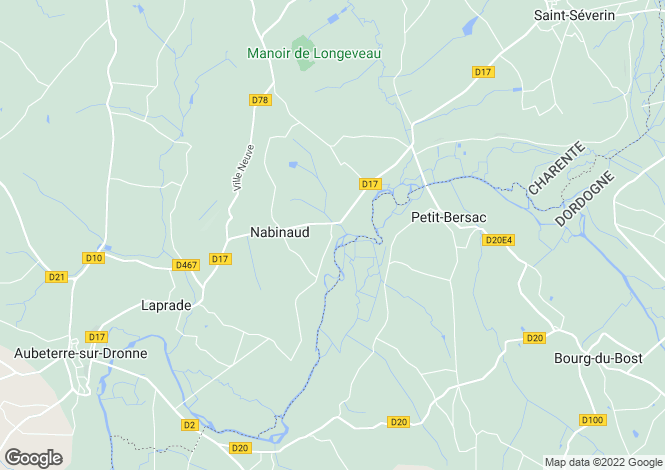 Map for nabinaud, Charente, France