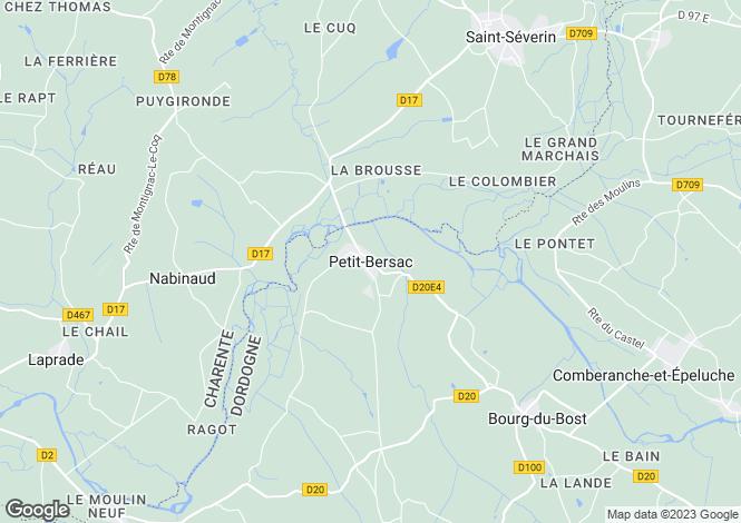 Map for Secteur: Petit Bersac, Dordogne