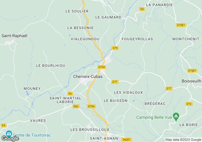 Map for cherveix-cubas, Dordogne, France