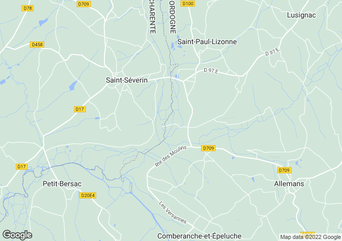 Map for Secteur: St Aulaye, Dordogne
