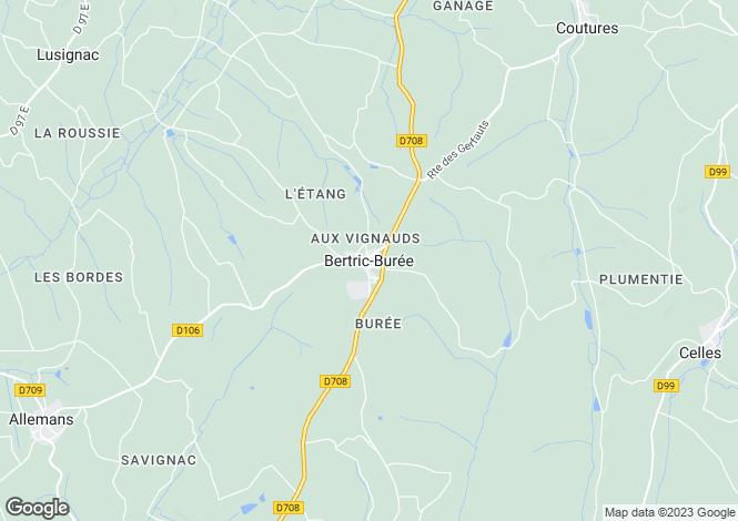 Map for Secteur: Bertric Buree, Dordogne.