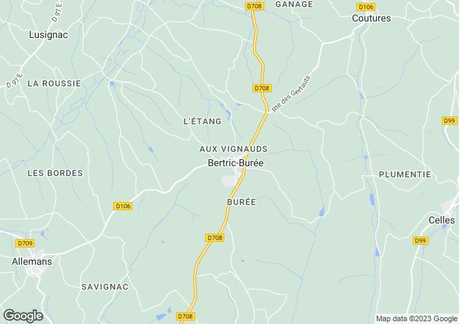 Map for bertric-buree, Dordogne, France