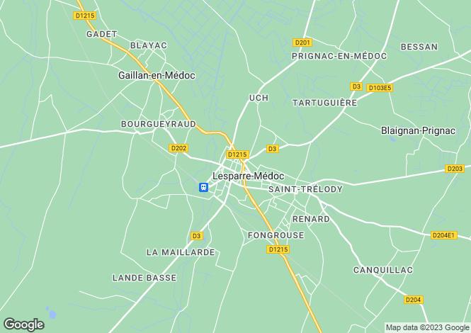 Map for Aquitaine, Gironde, Lesparre-Médoc