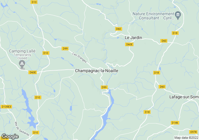 Map for Champagnac-la-Noaille, 19320, France