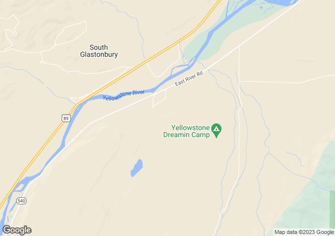 Map for Montana, Park County, Pray