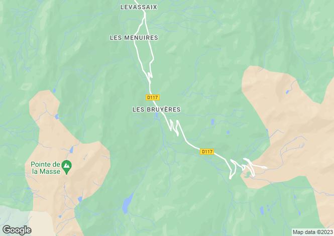 Map for Les Menuires, Savoie, Rhone Alps