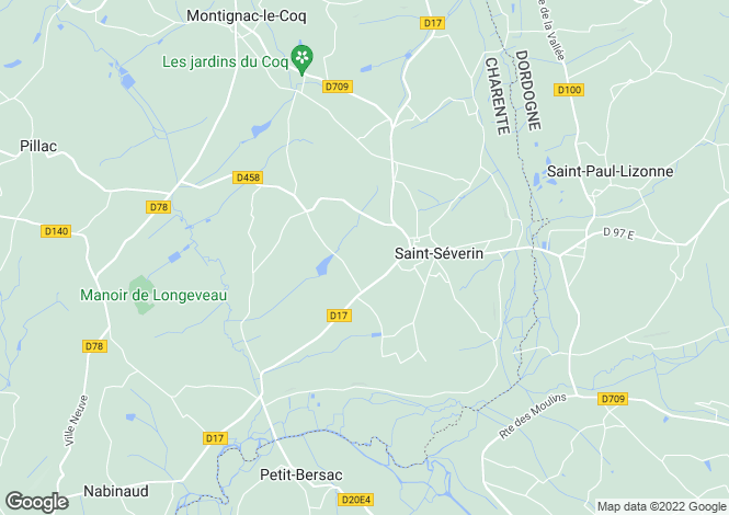 Map for Secteur: St Severin, Charente.