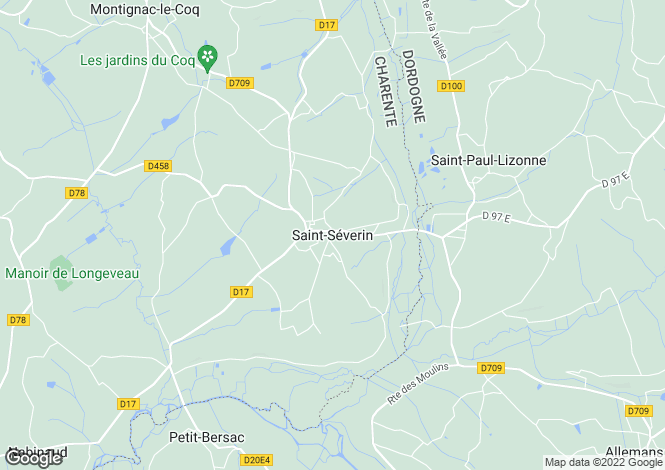 Map for Secteur: St Severin, Charente