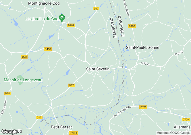 Map for st-severin, Charente, France
