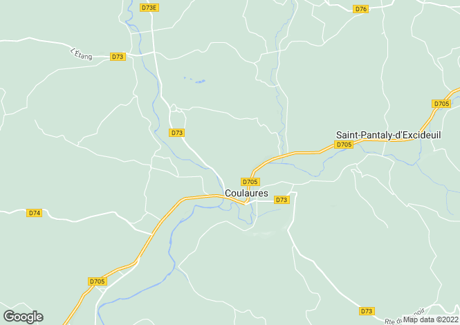 Map for 24420 coulaures