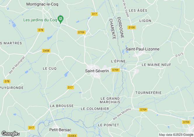 Map for Secteur: Saint Severin, Charente