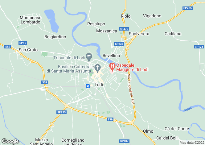 Map for Lombardy, Lodi, Lodi
