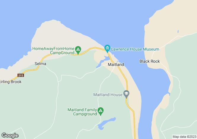 Map for Maitland, Nova Scotia