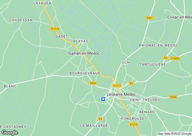 Map for gaillan-en-medoc, Gironde, France