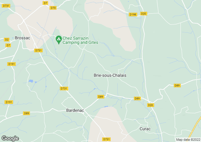Map for brie-sous-chalais, Charente, France