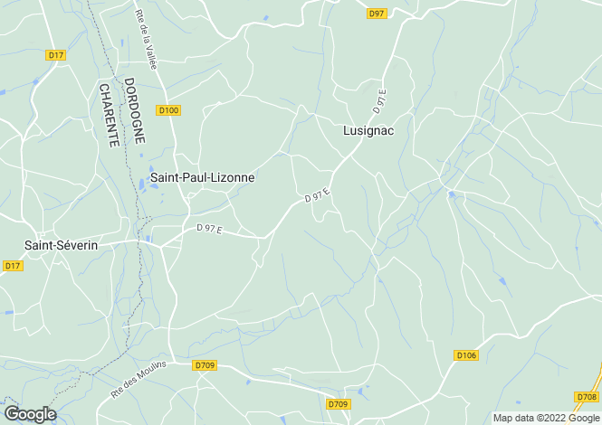 Map for lusignac, Dordogne, France