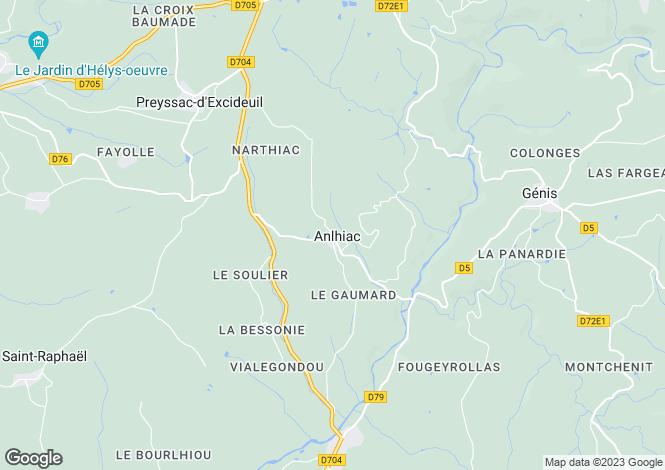 Map for Aquitaine, Dordogne, Anlhiac