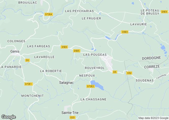 Map for 24160 salagnac