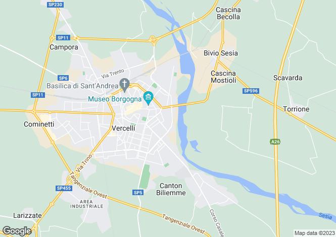 Map for Vercelli, Vercelli, Piedmont