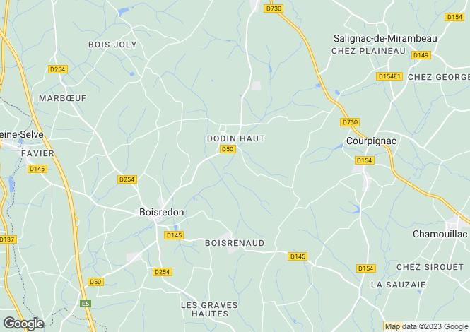 Map for Courpignac, Charente-Maritime, Poitou-Charentes